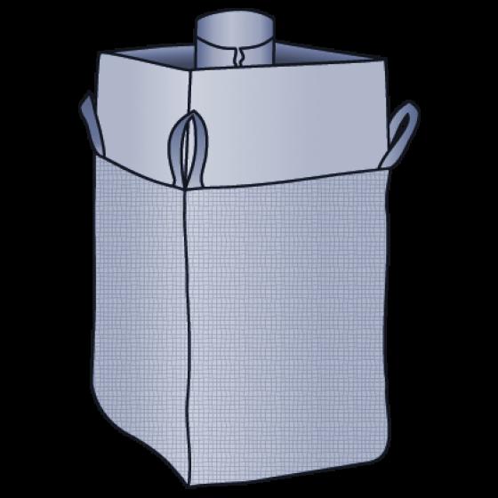 Big Bag 90x90x110 cm mit PE-Inliner an der Einfüllschürze angenäht