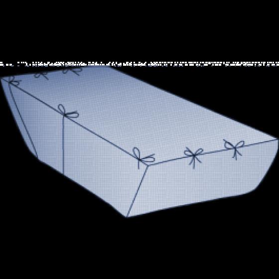 Containerbag für Absetzmulde 7 cbm, offen, 340/220(L)x195(B)x165(H) cm