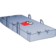 Plattenbag 260x125x80 cm Asbest