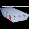 Containerbag für Absetzmulde 7 cbm, offen, 340/220(L)x195(B)x165(H) cm, mit Asbestaufdruck